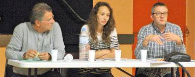 Jérôme Tron, Elsa Barrandon et Joël Perrin à Aups