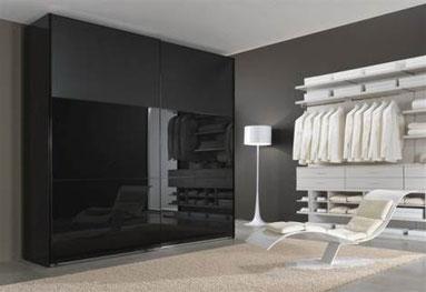 cuisine intérieur design toulouse dressing fermé noir et ouvert blanc tendance design moderne