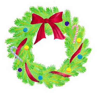 12月 クリスマスリース