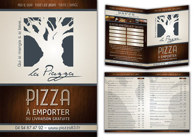 Tract dépliant pub pizzéria
