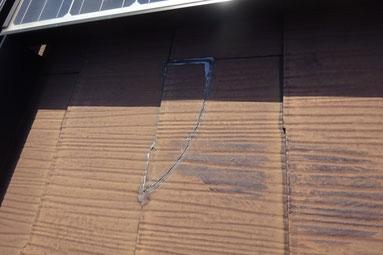 スレート屋根に割れ発生