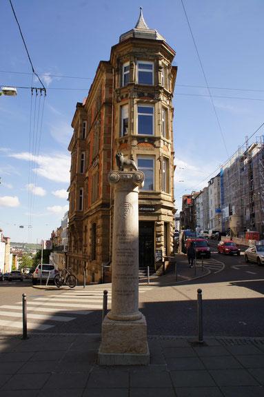 Denkmal für Loriot Stuttgart Eugensplatz