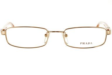 occhiali vista prada uomo 65GV 5AK1O1 Oro squadrato metallo
