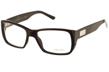 Occhiali da vista Prada uomo 05MV 1AB1O1. Colore: nero. Forma: squadrato. Materiale: plastica.