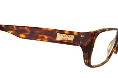 Occhiali da vista Prada uomo 05MV 2AU1O1. Colore: havana. Forma: squadrato. Materiale: plastica.