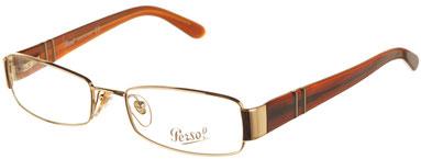 Occhiali da vista Persol donna Modello: 2312V. Colore: 515 oro. Calibro: 50-17. Prezzo € 112,00. Spedizione gratis. Forma: rettangolare. Materiale: metallo.