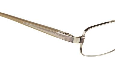 Occhiali da vista Prada uomo 50LV 1BC1O1. Colore: argento. Forma: squadrato. Materiale: metallo.