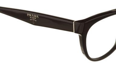 occhiali vista prada donna 10PV 1AB1O1 nero plastica forma panto