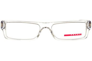 Occhiali da vista Prada Linea Rossa uomo 01AV AAO1O1. Colore: trasparente. Forma: squadrato. Materiale: plastica.
