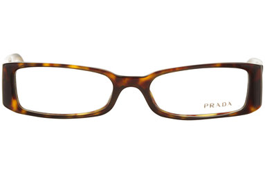 Occhiali da vista Prada donna 16GV 7661O1. Colore: tartarugato. Forma: squadrato. Materiale: plastica.