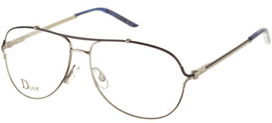 Occhiali da vista Christian Dior 3755. Colore: AES BLUE PAL argento. Calibro 56-13. Materiale: metallo. Forma: Goccia.