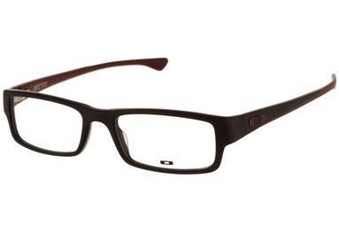 occhiali vista uomo Oakley 1066 Servo 04 Nero e mattone acetato