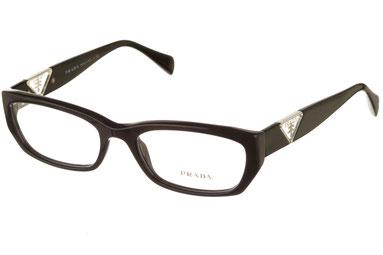 occhiali vista prada donna 10OV 1AB1O1 nero plastica gatto