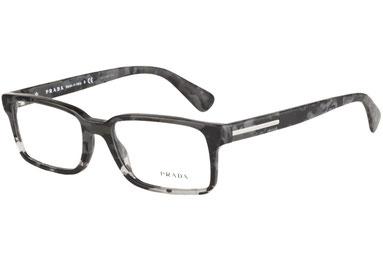 occhiali vista uomo prada  15QV RON1O1 nero mimetico e grigio