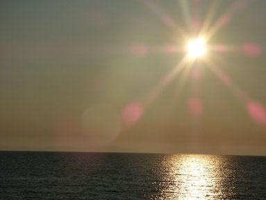 今日SUNSET!力強い光を放っていました!