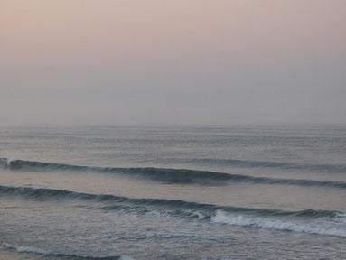 7時ごろ 幻想的な時間でした♪ 初日の出も海の中から!
