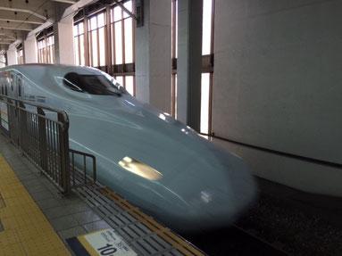 新幹線であっという間ですね。