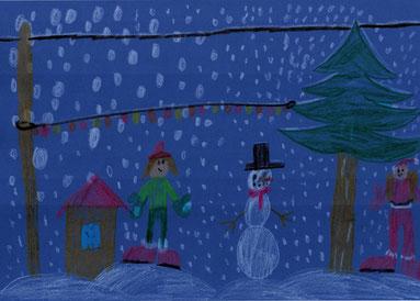"""Arian 7Lj """"ich wünsche mit richtig schönen Schnee zu Weihnachten"""""""