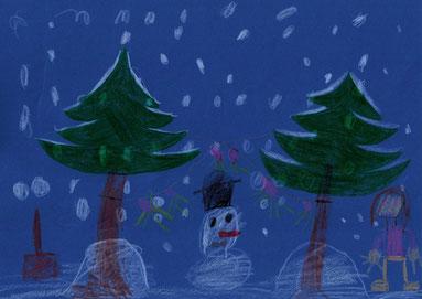 """Sabina 5Lj  """"ich wünsche mir einen Winter mit viel Schnee zum Schneemann und Höhlen bauen"""""""
