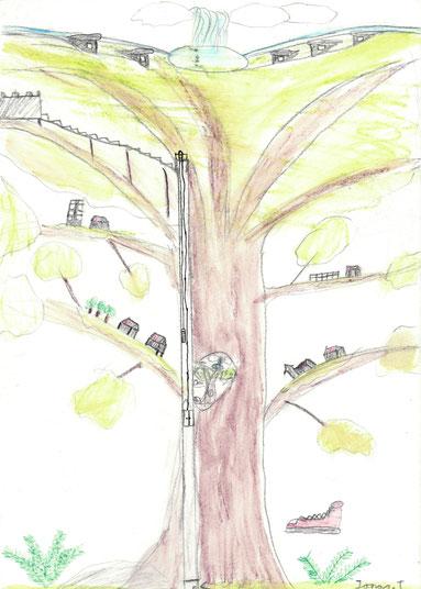 """Jonas 10Lj  """"ich wünsche mir mehr Fantasie und das man die Natur mehr beachtet und erhält"""""""
