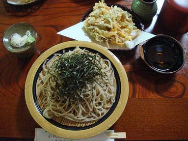 小代行川庵のざる蕎麦