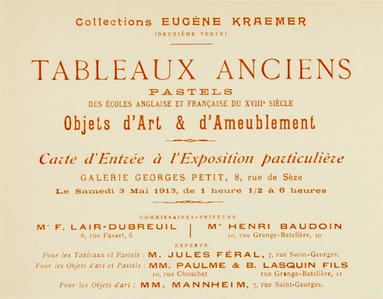 Original 1913 Paris Art Auction Invitation