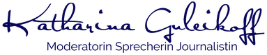 Katharina Guleikoff Logo Moderatorin Sprecherin Journalistin