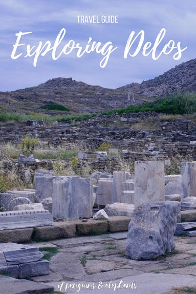 Travel Guide Delos Exploring Delos UNESCO island ofpenguinsandelephants of penguins & elephants Greece Pinterest