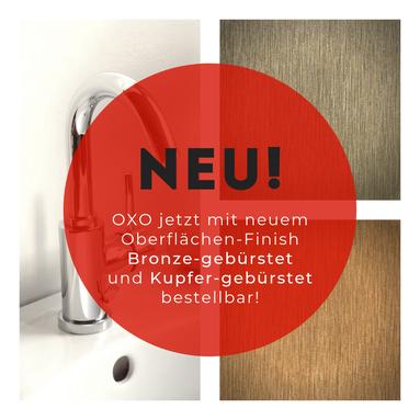 Neues Oberflächen-Finish Armaturen-Serie OXO