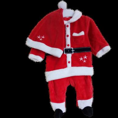 Pyjama Père Noël avec bonnet 3 mois