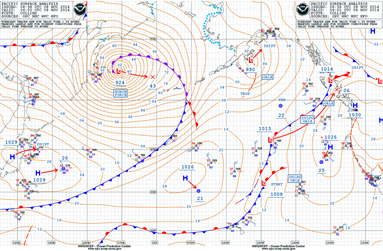 Orkan über dem Beringmeer am 08.11.2014 um 06 UTC. | Source: NWS/NCEP Ocean Prediction Center