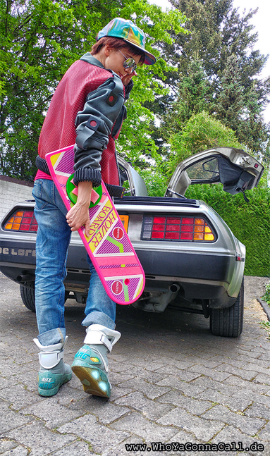 Marty McFly 2015 Cosplay Hoverboard DeLorean Nike Air Mags Future