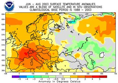Ola de calor de Europa en el verano del 2003