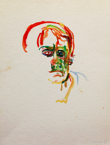 Bettina Heinen-Ayech (1937-2020): Letztes unvollendetes Portrait, 2020