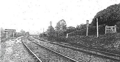 Bahnstrecke, an der Mayor-General Luard sich vor den Zug warf.