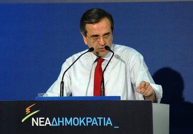 Den konservative ministerpræsident Antonis Samaras
