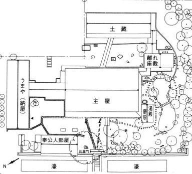 天領庄屋中谷家の平面図