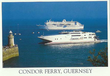 Condor Express arriving in Saint-Peter Port from Poole.