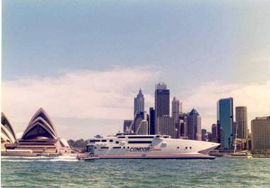 Condor Vitesse sailing in Sidney.