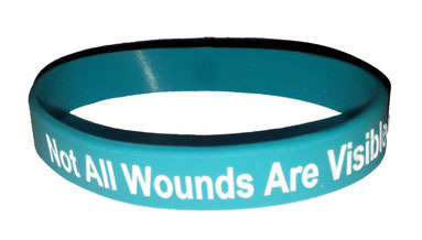 Posttraumatic Stress Awareness / Not All Wounds Are Visible wristband