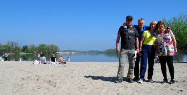 Schöner Strand am Silbersee