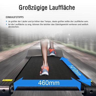 Laufband Vergleich Lauffläche