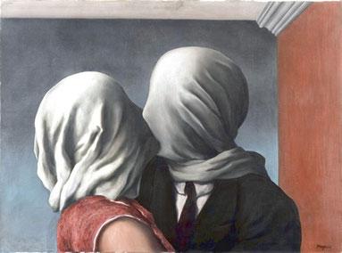 Los amantes, R. Magritte, 1928