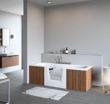 Badewanne mit Glastür | Modell QUINTO von BörSting