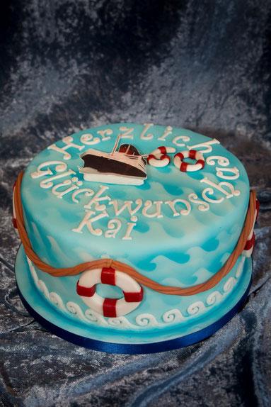 Torte maritim Queen Victoria Mary Kreuzfahrt Motivtorte