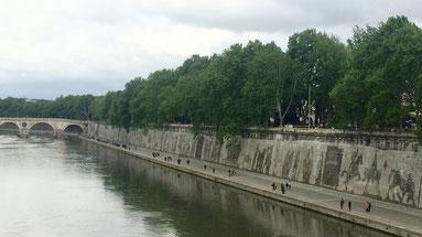 Panoramica del fregio da ponte Mazzini. Foto di Alessia Paionni