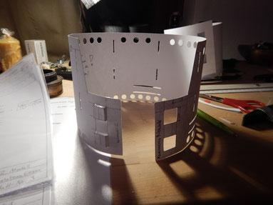 Modellbau für den 2. Prototypen (rollbare Konstruktion)