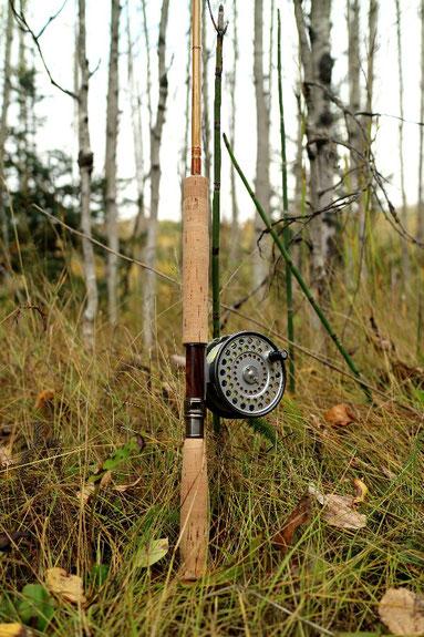 Sweetgrass bamboo Rod Hardy Zenith
