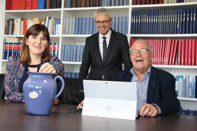 (von links: Sophie Stepper, Dr. Christian Mickisch, Helmut Rauscher), Foto: Finn