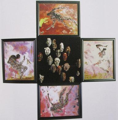 火の海の中で 185×185 ㎝ 1995 年